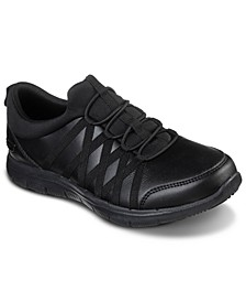 Women's Work Relaxed Fit Ghenter Dagsby Slip-Resistant Athletic Sneakers from Finish Line