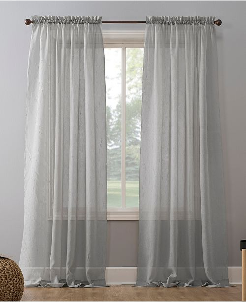 "Lichtenberg No. 918 Crushed Voile 51"" x 84"" Sheer Curtain Panel"
