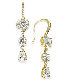 Glass Stone Triple Drop Earrings, Created for Macy's