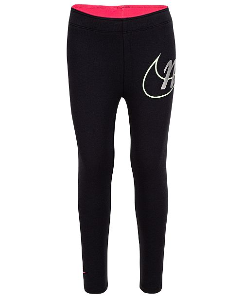 Nike Little Girls Metallic Logo Leggings