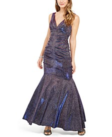 Metallic Glitter Mermaid Gown