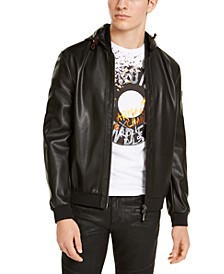 Black Faux Leather Blouson Jacket