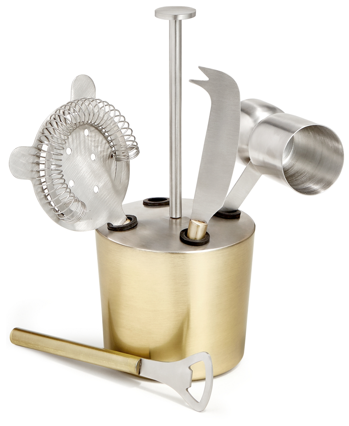 Martha Stewart Collection Gold-Tone 5-Pc. Bar Tool Set, Created for Macy's