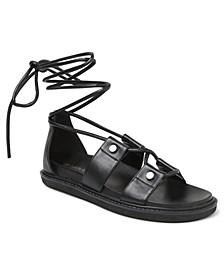 Millie Lace Up Flat Sandals