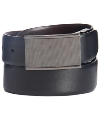 Perry Ellis Mens 35mm Textured Strap Reversible Dress Belt