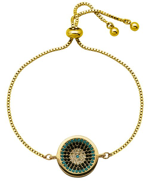 Macy's Colorful Round Disc Bolo Bracelet