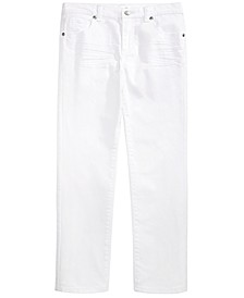 Big Boys Stretch Textured Twill White Jeans, Created For Macy's