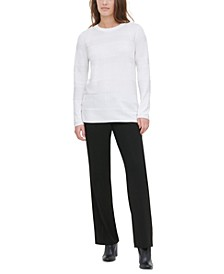 Ribbed Side-Button Sweater