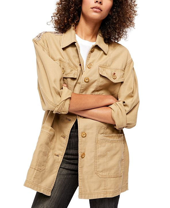 Free People Swept Up Shirt Jacket