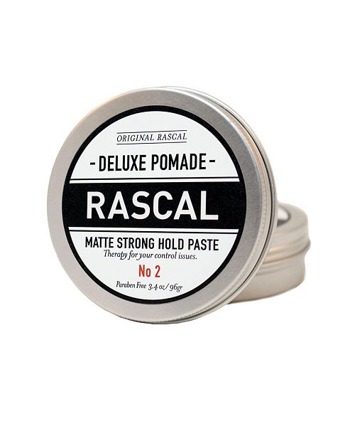 Rascal Deluxe Pomade 2, Matte Look or Strong Hold Paste, 3.4 oz