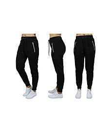 Women's Loose Fit Jogger Pants With Zipper Pockets
