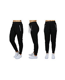 Galaxy By Harvic Women's Loose Fit Jogger Pants With Zipper Pockets