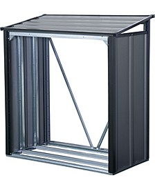 Steel Firewood Rack with Roof