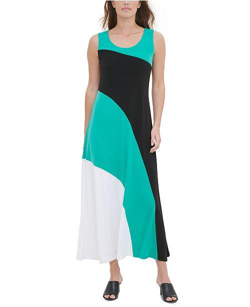Calvin Klein Colorblocked Sleeveless Dress
