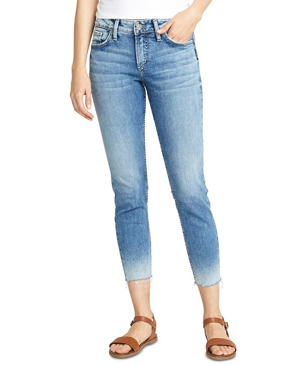 Silver Jeans Co. Elyse Skinny Cropped Jeans