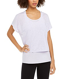 Snake-Print Burnout Layered T-Shirt, Created for Macy's