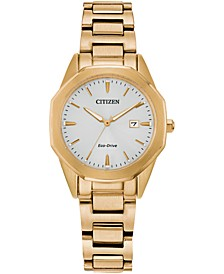 Eco-Drive Women's Corso Gold-Tone Stainless Steel Bracelet Watch 28mm