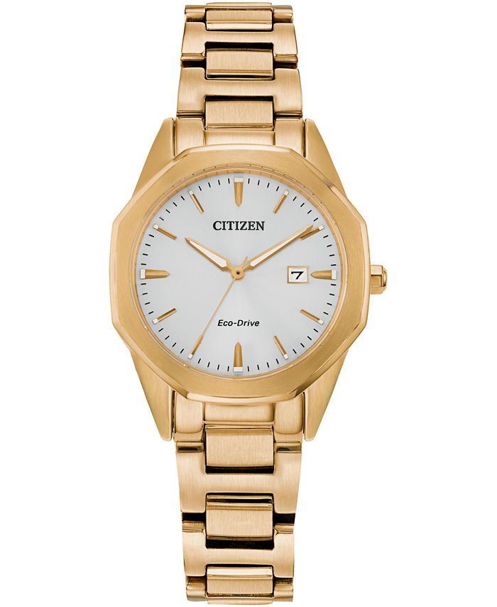Citizen - Women's Corso Gold-Tone Stainless Steel Bracelet Watch 28mm
