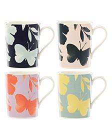 Petal Lane Floral Set/4 Assorted Mug