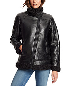 Skinnygirl Women's Wheatley Faux Shearling Jacket