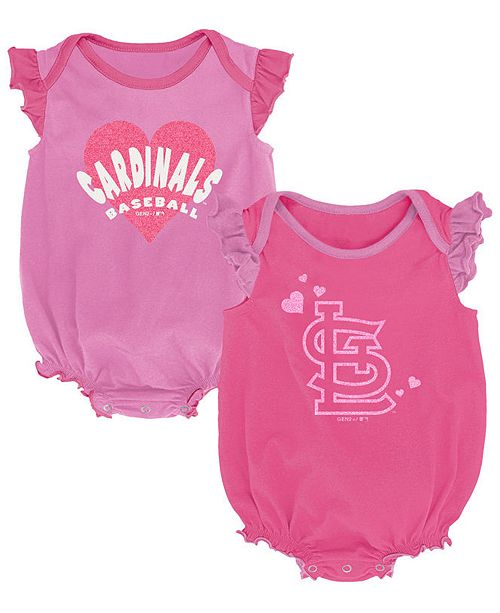 Outerstuff Baby St. Louis Cardinals Pink Double Trouble Set