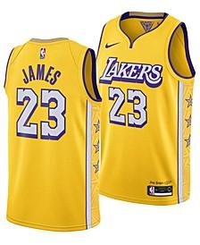 Men's LeBron James Los Angeles Lakers City Edition Swingman Jersey