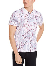 Men's Floral Striped Polo Shirt, Created for Macy's