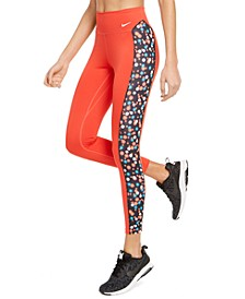 Women's One Dri-FIT Daisy-Print Leggings
