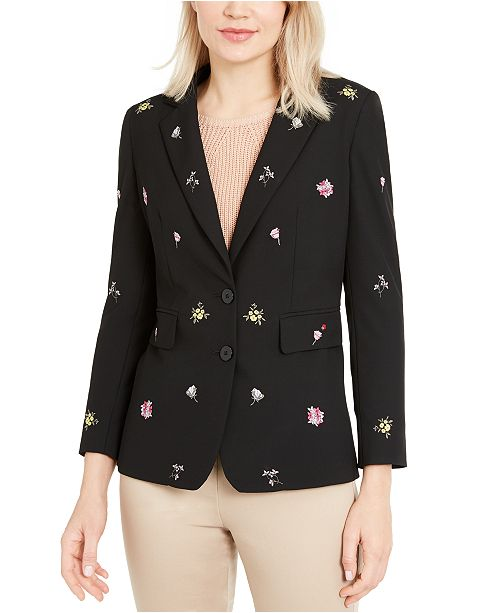 Marella Floral Embroidered Blazer