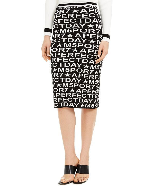Marella Printed Pencil Skirt