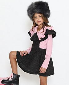 Little Girls Teddy Overall Dress