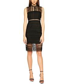 Mock-Neck Lace Dress