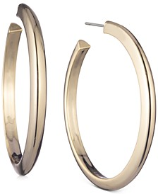Gold-Tone Large Thick Hoop Earrings, 2.3""