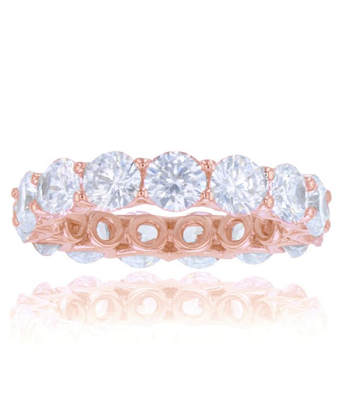 Macy's - White Cubic Zirconias Eternity Band in 14k Rose Gold Plated Sterling Silver