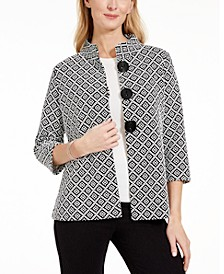 Jacquard Stand-Collar Jacket, Created for Macy's