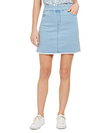 Pull-On Frayed-Hem Skort, Created for Macy's