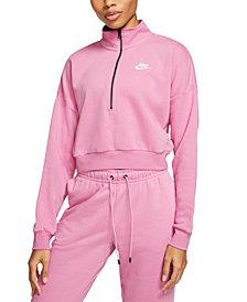 Nike Women's Sportswear Essential Relaxed Fleece Cropped Top