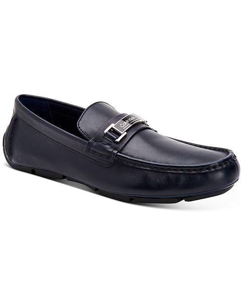Calvin Klein Men's Kaufman Crust Leather Bit Loafers