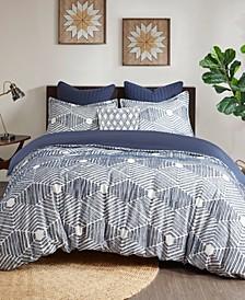 Ellipse 3-Piece King/Cal King Cotton Jacquard Comforter Set
