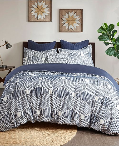 INK+IVY Ellipse 3-Piece King/Cal King Cotton Jacquard Comforter Set