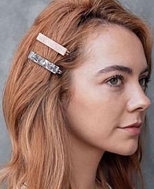 Marble Acrylic Hair Clip Two-Piece Set