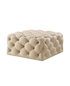 Madeline Upholstered Tufted Allover Square Cocktail Ottoman