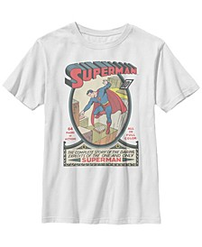 DC Comics Little and Big Boys Classic Superman and The Daring Exploits Short Sleeve T-Shirt