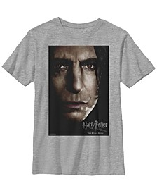 Harry Potter The Deathly Hallows Snape Movie Poster Little and Big Boy Short Sleeve T-Shirt