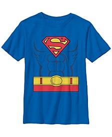 DC Comics Little and Big Boys Superman Costume Short Sleeve T-Shirt