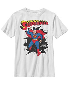 DC Comics Little and Big Boys The One and Only Superman Short Sleeve T-Shirt