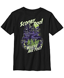 Scooby Doo Little and Big Boys Haunted House Short Sleeve T-Shirt