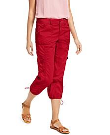 Curvy-Fit Cargo Capri Pants, Created for Macy's