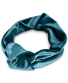 Peacock-Teal Velvet Stretch Knot Headband