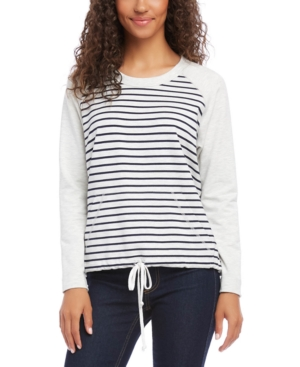 Karen Kane Tops RAGLAN-SLEEVE KANGAROO-POCKET TOP